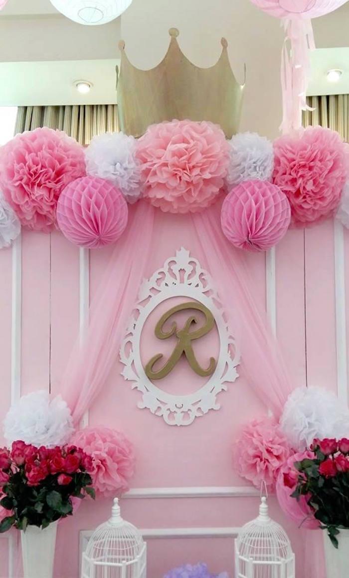 Pink,Princess,Baptism,Party,via,Karas,Party,Ideas,